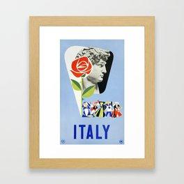 Vintage Italian 1930s Travel Poster- Italy Framed Art Print