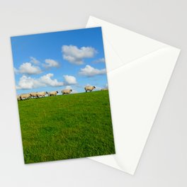Landscape with sheeps Stationery Cards