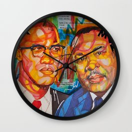 Malcolm X King Wall Clock