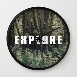 Explore: Forest Wall Clock