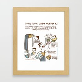 SWING SERIES: LINDY HOPPER #2 Framed Art Print