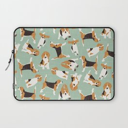 beagle scatter mint Laptop Sleeve