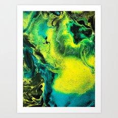 Neon Abstract Art Print