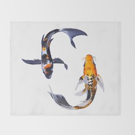 Butterfly Koi Throw Blanket