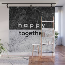 Happy Together Couples Quote Wall Mural