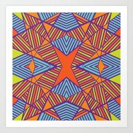 Geometric X Stripe Art Print