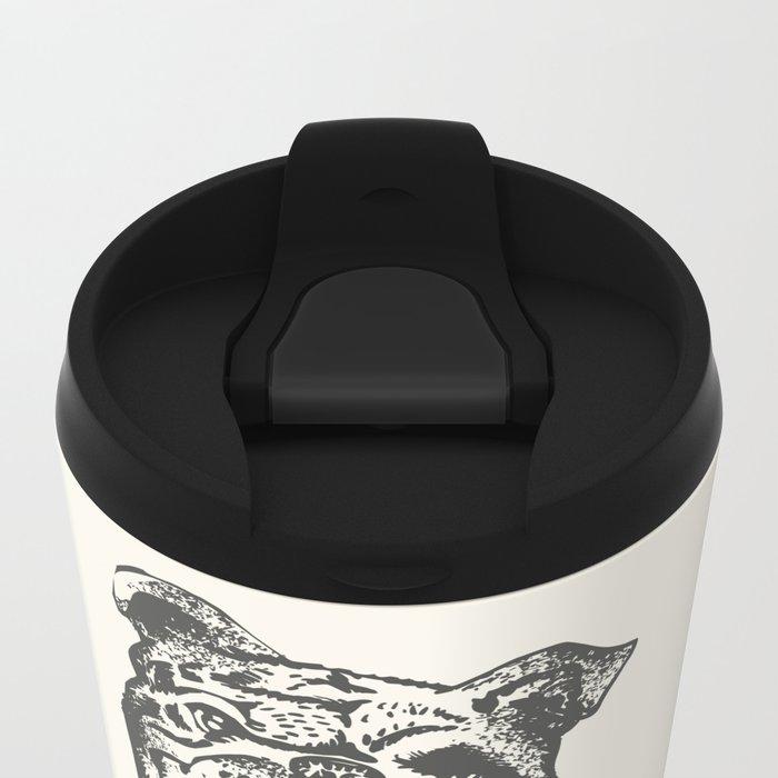 English Bulldog Lift Metal Travel Mug