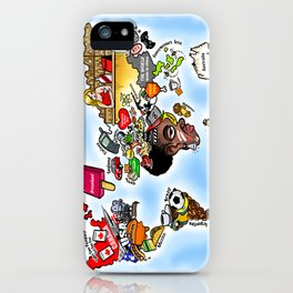 The World as we know it iPhone Case