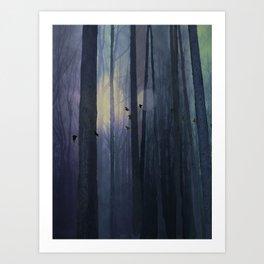 Midnight migration Art Print