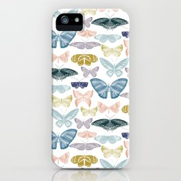 butterflies thread pastels iPhone Case