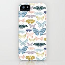 butterflies pastels iPhone Case