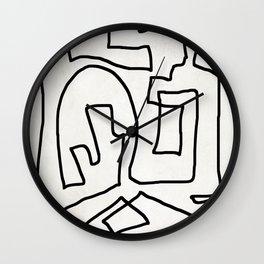Abstract line art Wall Clock