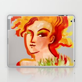 Deep orange yellow hues fashion portrait Laptop & iPad Skin