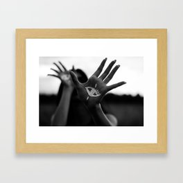 Seeing is Touching - Wide Framed Art Print