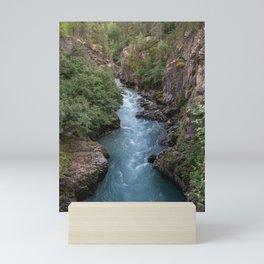 Alaska River Canyon - I Mini Art Print