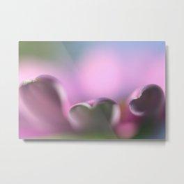 Purlple flower petal macro Metal Print