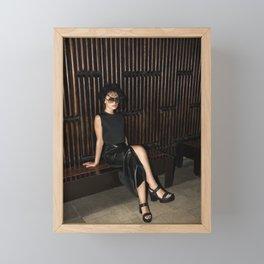Black Widow Framed Mini Art Print