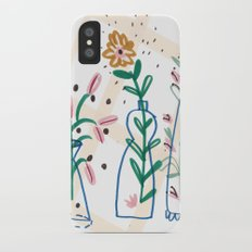 Flowers. Vase, illustration, art, print, pattern, nature, floral, still life, Slim Case iPhone X
