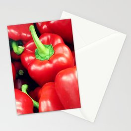 Red Peppers Stationery Cards