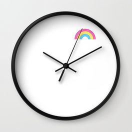 Pansexual Rainbow print LGBTQ Pride Gift Idea Wall Clock