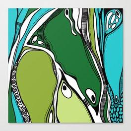 Green dive plongeon vers Canvas Print
