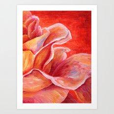 Rose Flower Bud Art Print