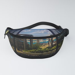 Sea Through A Cabana Fanny Pack