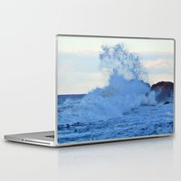 geology Laptop & iPad Skins featuring Exploding Surf  by DanByTheSea