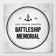 Battleship Memorial Canvas Print