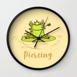 Piercing (Concept Funny Illustration) Wall Clock
