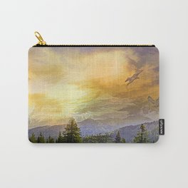 Eagles watch over the Valley Carry-All Pouch