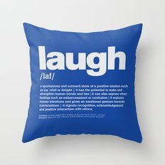 definition LLL - Laugh 6 Throw Pillow