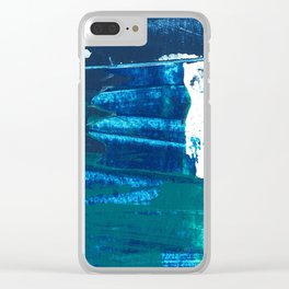 Desert Abstraction Clear iPhone Case