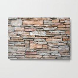 Neutral Stone Wall Metal Print