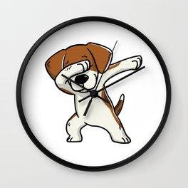 Funny Beagle Dabbing Wall Clock