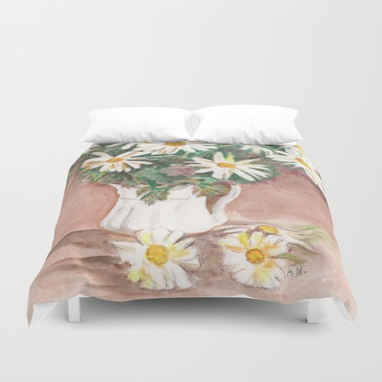Still Life of Daisies Duvet Cover