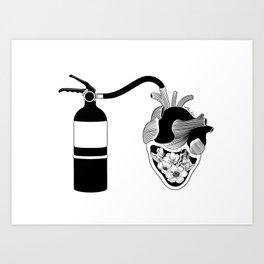 Good Heart, Bad Temper Art Print