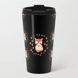 foxes in autumn. Pattern. Travel Mug