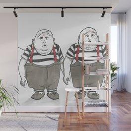 The Tweedles Wall Mural