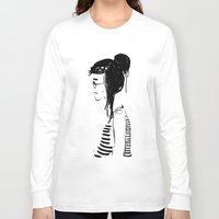 hippy Long Sleeve T-shirts featuring Hippy girl by SolaKida