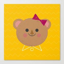 Dressy Bear Canvas Print