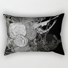50 shades of lace Grey Silver Black Rectangular Pillow