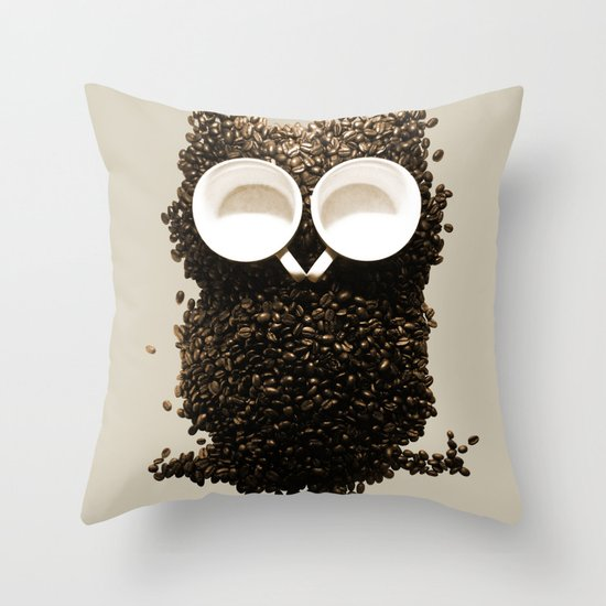 Hoot! Night Owl! Throw Pillow