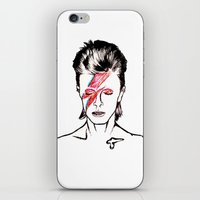 aladdin iPhone & iPod Skins featuring Aladdin Sane by Oaksworn