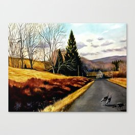 The Country Road Canvas Print