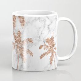 Rose gold palms on marble Coffee Mug
