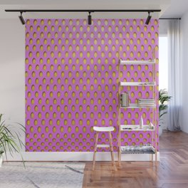 Elongated Holes3 Spanked Pink Wall Mural