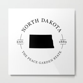 North Dakota - The Peace Garden State Metal Print