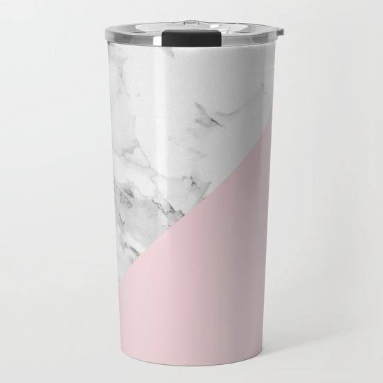 Marble + Pastel Pink by colorandpatterns
