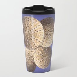 Organic Textured Egg Shell White Sea Urchin Shells Travel Mug